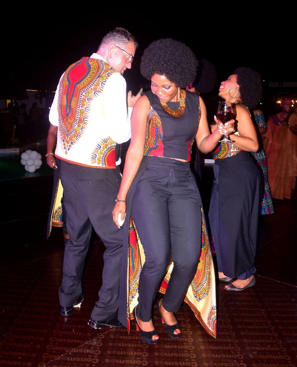 Just letting loose on the dance floor in Accra Ghana