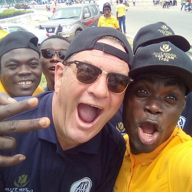 Paul Kavanagh does a selfie in Accra Ghana