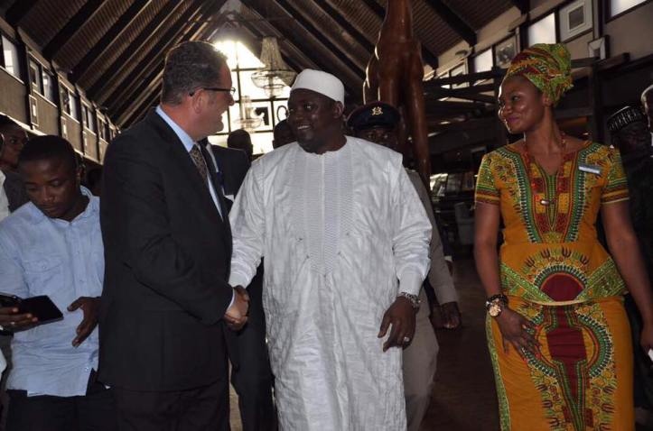 The President of Gambia meets Paul Kavanagh