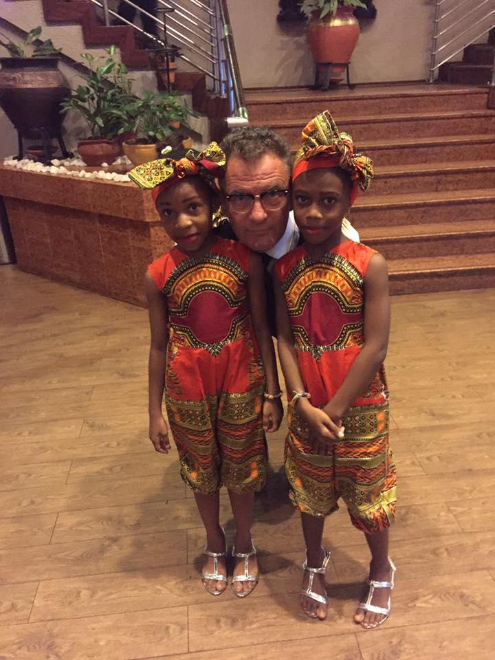 Paul Kavanagh and cute Ghanaian Hostesses