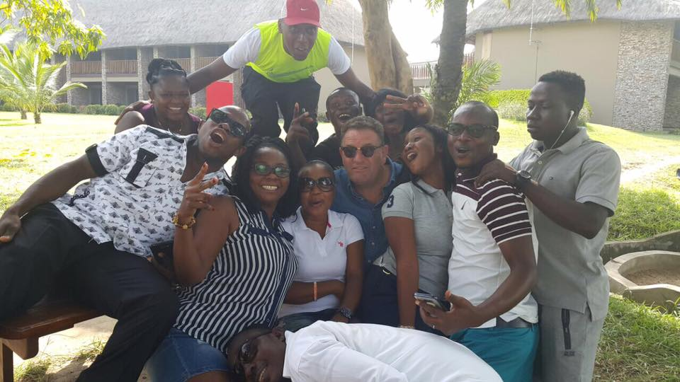 Chilling out with the gang in Accra Ghana #Ghanathings