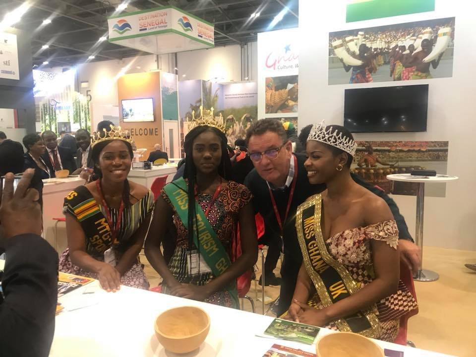 Miss Ghana enjoying meeting Paul Kavanagh