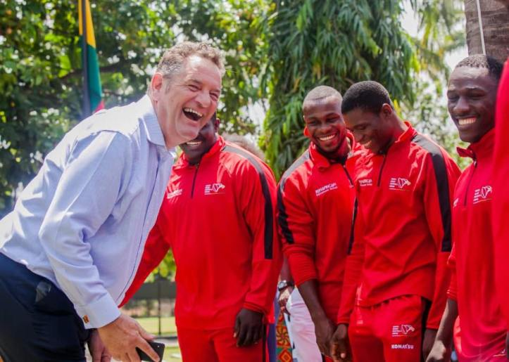 Having a laugh with the Ghana National Rugby Team