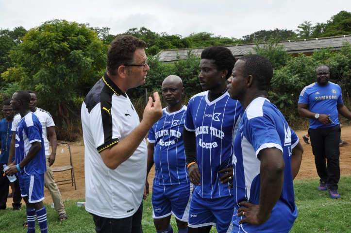 Paul Kavanagh the coach in Accra Ghana