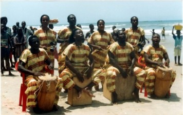 Ga People Accra drummers
