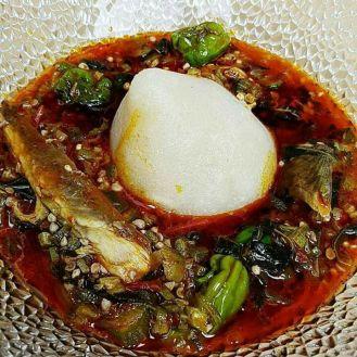 Ghanaian Banku food