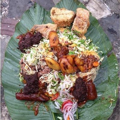 Ghanaian food street Waakye
