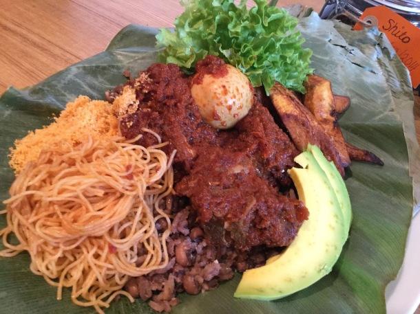 Ghanaian food Waakye accra