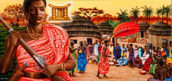 The Ashanti Nana-Yaa-Asantewa-and-The-Ashanti-people