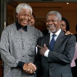 Kofi Annan Nelson Mandela