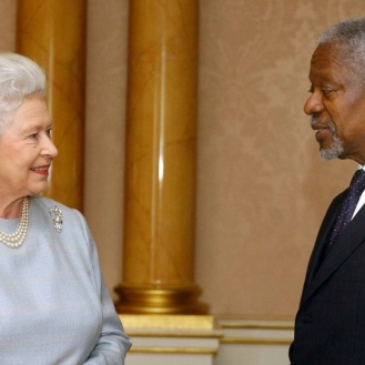Kofi Annan The Queen
