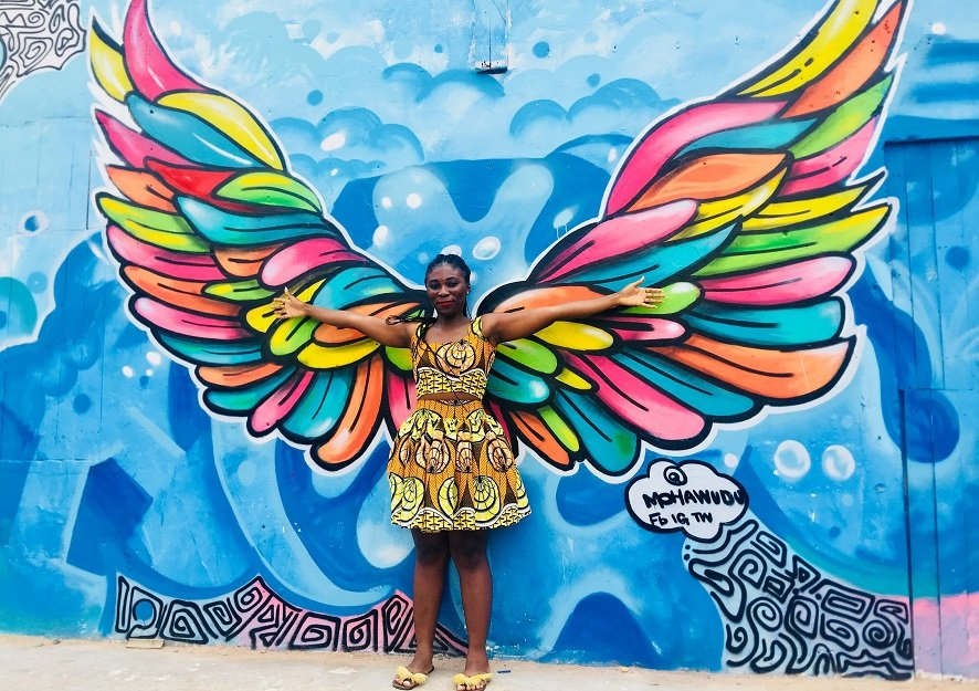 The Chale Wote Street Art Festival butterfly girl