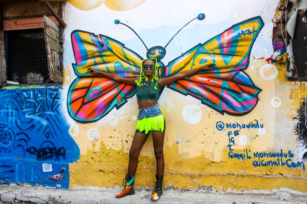 The Chale Wote Street Art Festival butterfly