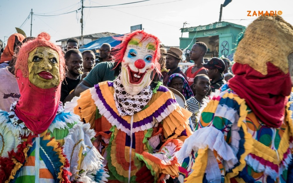 The Chale Wote Street Art Festival clowns